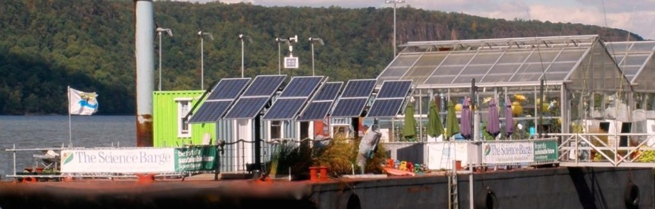 Farming off the grid on the science barge