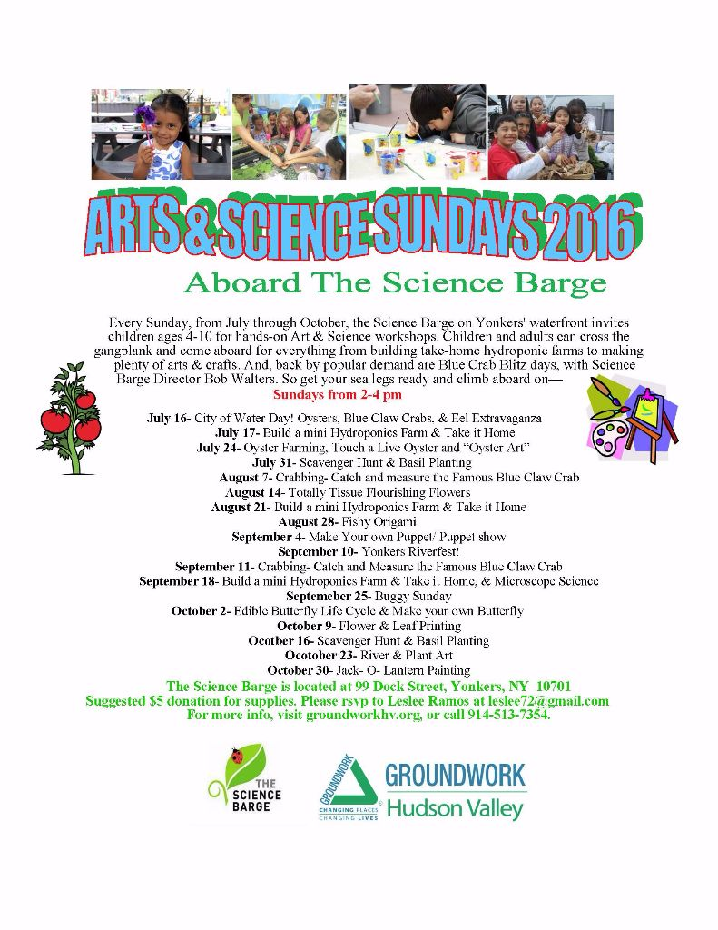 arts and science sundays 2016 Flyer