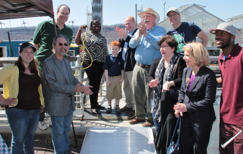 Science Barge gangplank opening 2014